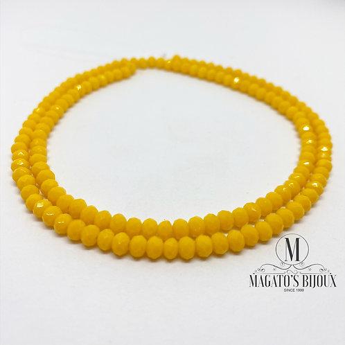 Fio de Cristal Amarelo 02 N° 04
