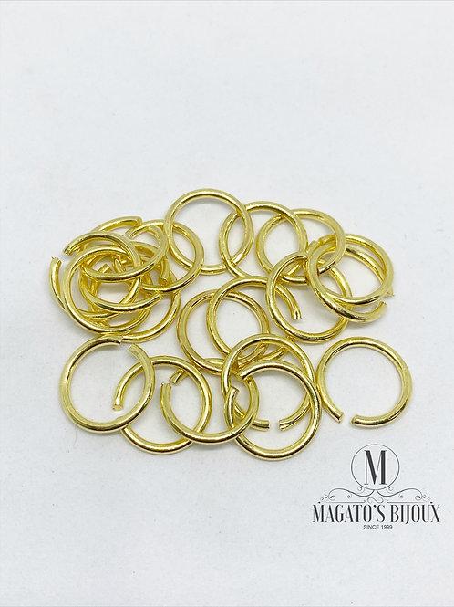 Argolinha Dourada Latão N 10