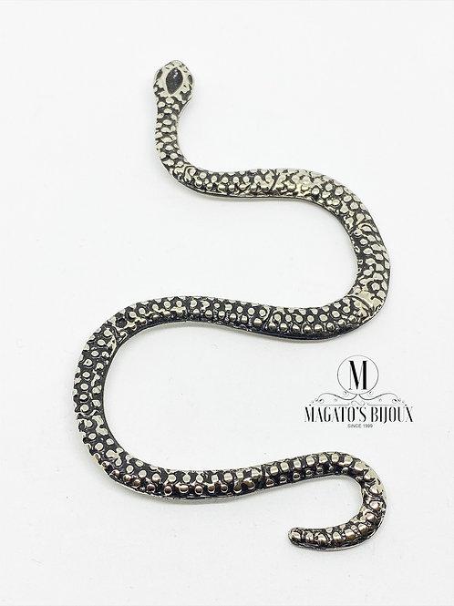 Pingente Cobra Níquel Gráfico