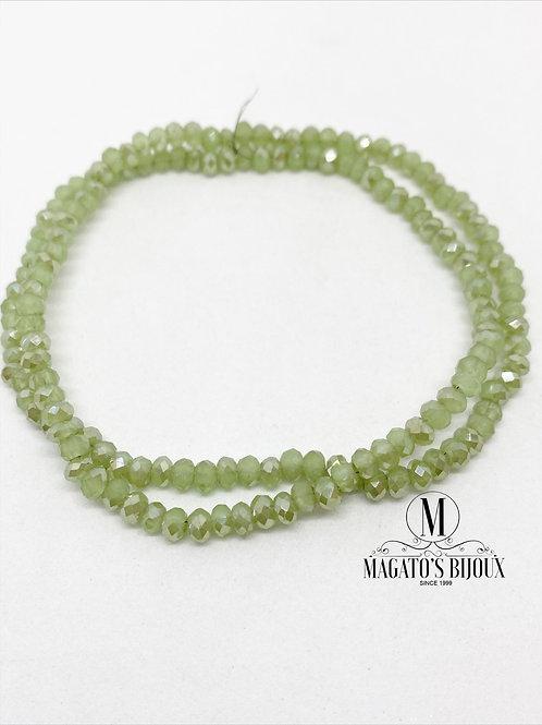 Fio de Cristal Verde Claro Leitoso N 04