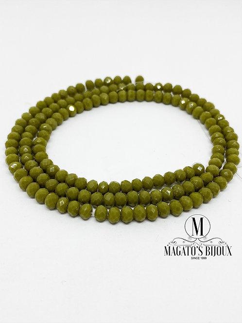 Fio de Cristal Verde Musgo 01 N° 04