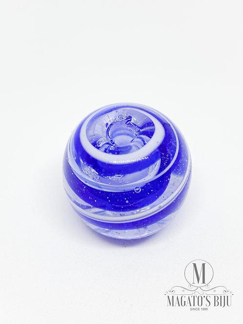 Bola Transparente c/ Azul e Branco