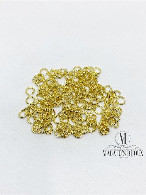Argolinha Dourada Latão N 02