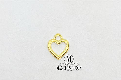 Pingente de Coração Vazado Dourado