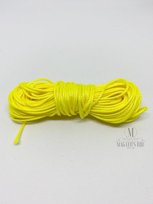 Cordão Encerado Amarelo Neon Brilhoso (Fino)