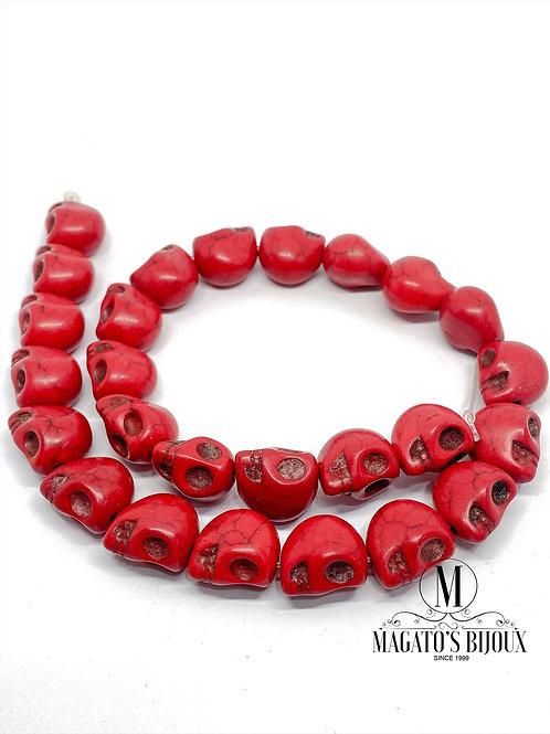Caveira Howlita Vermelha (M)