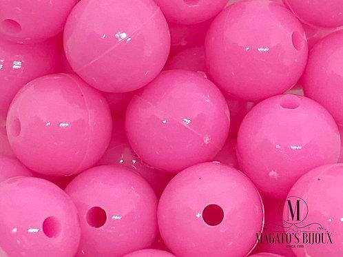 Bolinhas de Plástico Rosa Choque N10