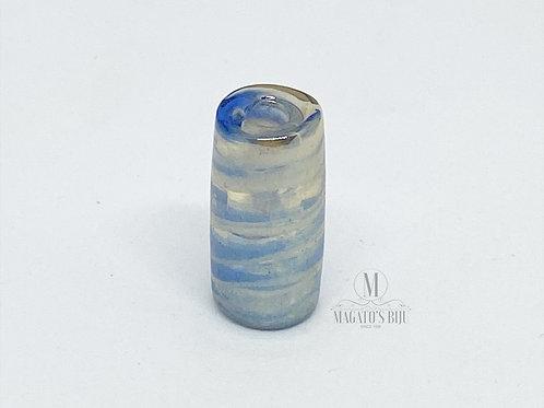 Firma Azul e Branca Mesclada Irisada M