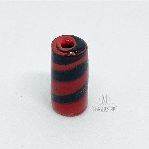 Firma Preta e Vermelha Mesclada M