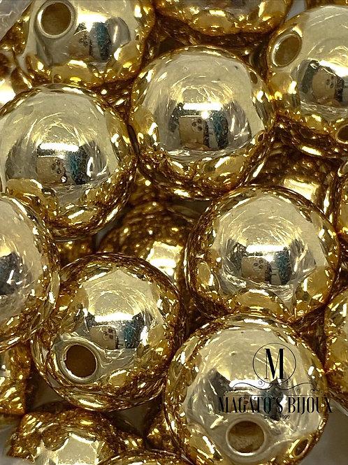 Bolinha de ABS Dourada N 12