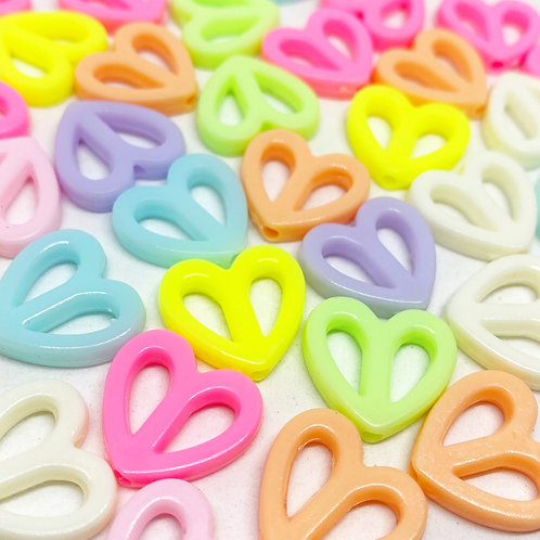 Contas Coração Coloridos