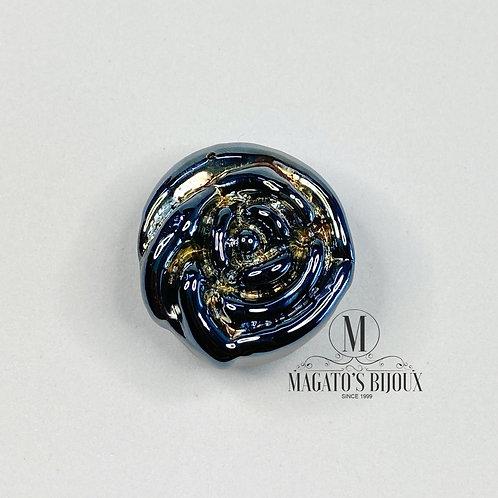 Flor de Murano - Preta Irisada