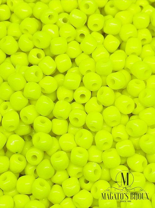Miçanga Acrílica Amarelo Neon