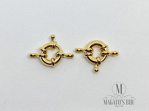 Fecho Bóia Dourado 13mm