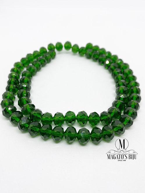 Fio de Cristal Nº08 Verde 001