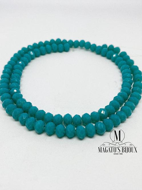 Fio de Cristal Verde Esmeralda N° 06
