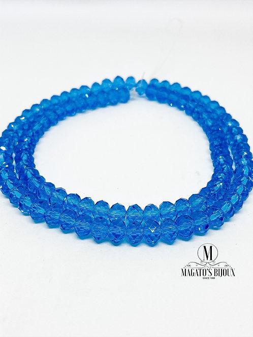 Fio de Cristal Cristal Azul 01 N° 06