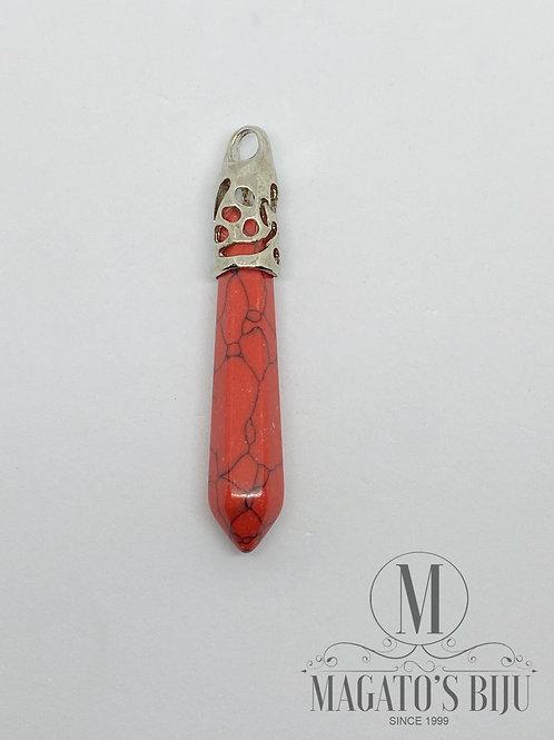 Pêndulo Howlita Vermelha