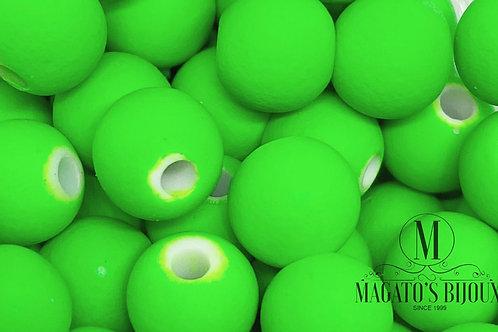 Bolinha Emborrachada Verde Limão N08