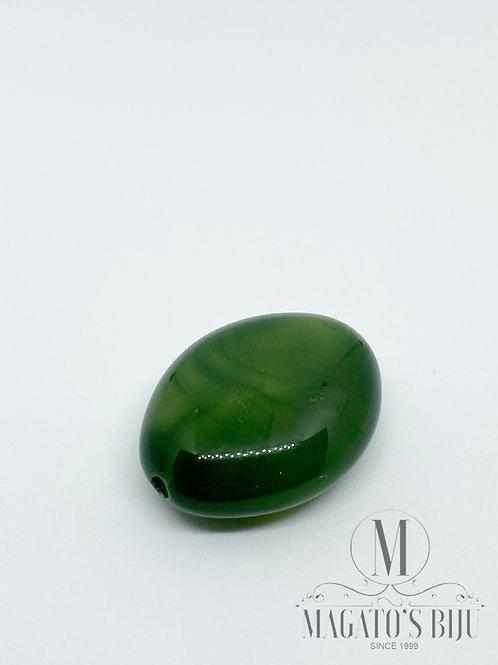 Amêndoa Resina Mesclada Verde Musgo