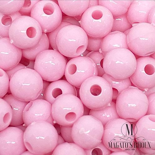 Bolinhas de Plástico Rosa Bebê N 06