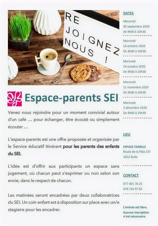 Espace-Parents SEI automne 2020