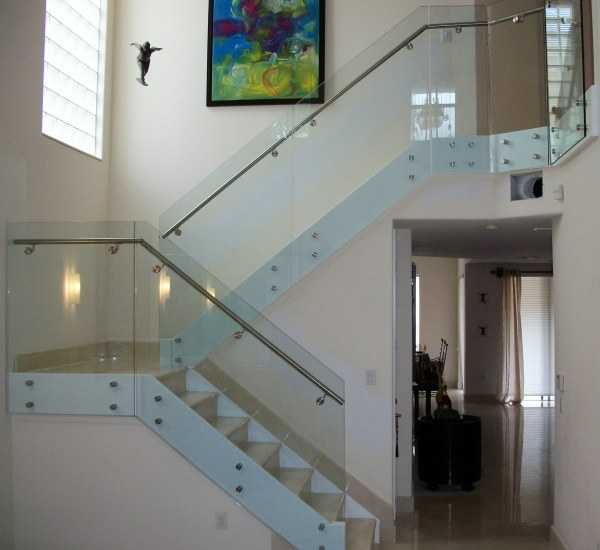 interior glass and steel railing