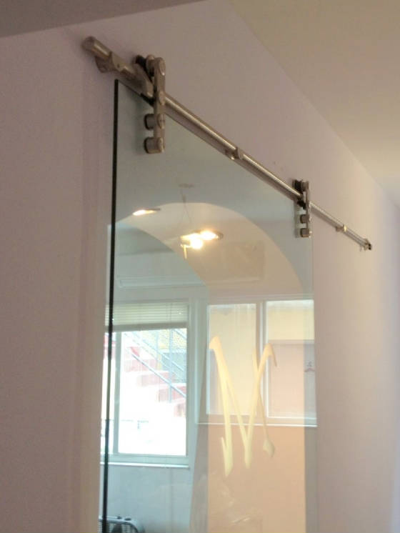 """Laguna"" glass barn door"