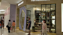 Installation of Storefront for New Penhaligon's at Aventura Mall