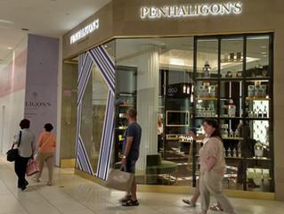 Installation of Storefront for New Penhaligon's at Aventura Mall