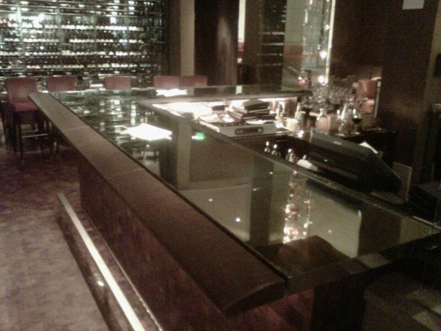 Mirrored bar top