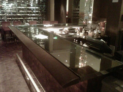 Mirrored bar top