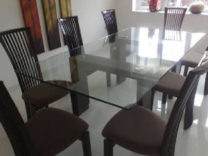 Glass dining room table top