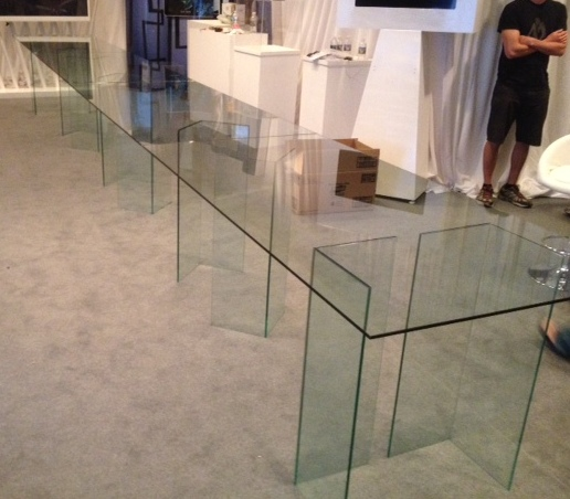 Glass display tables & bases