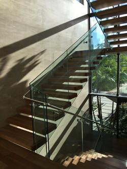 glass railing - hidden standoffs