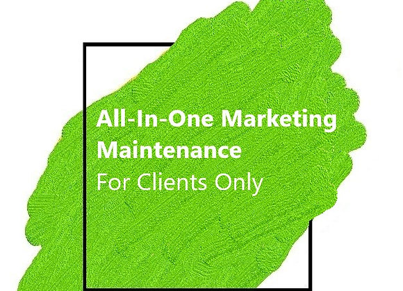 Marketing Maintenance - For Clients Only