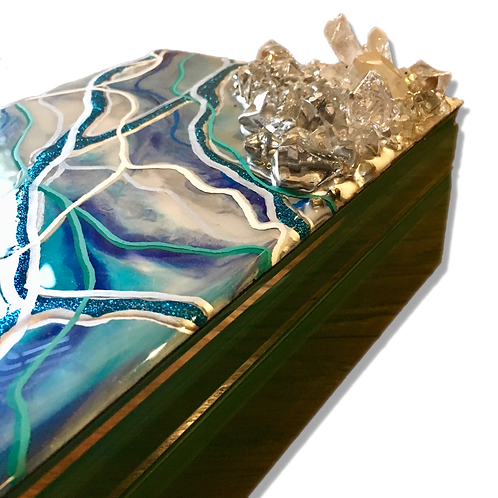 Geode Inspired Jewelry Box (large)