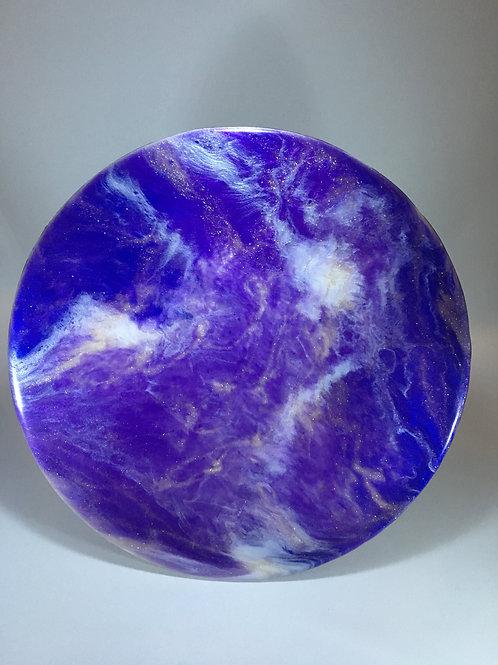 """Purple Gold White 8"""" Round"""