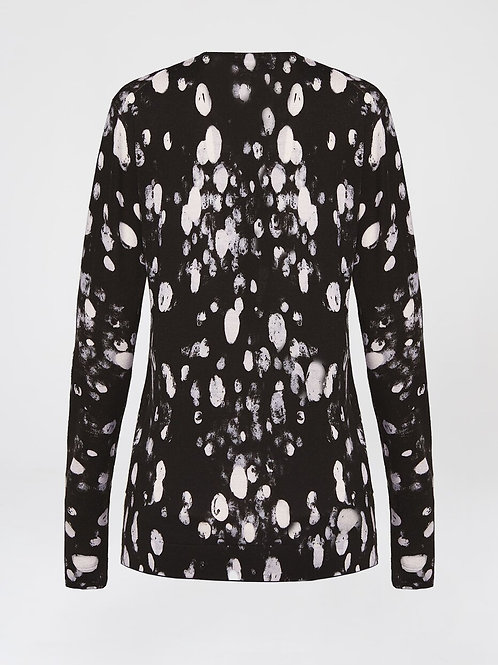 Over all printed dalmation cardigan 5034043