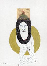 Mujer pelo mapa