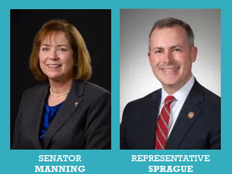 Senator Manning & Representative Sprague Join Advocacy Day Agenda!