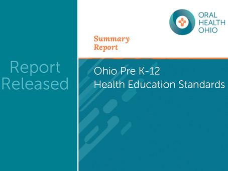 New Report: Ohio Pre K-12 Health Education Standards