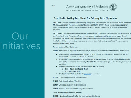 Integrating Oral Health in Primary Care with Pediatricians