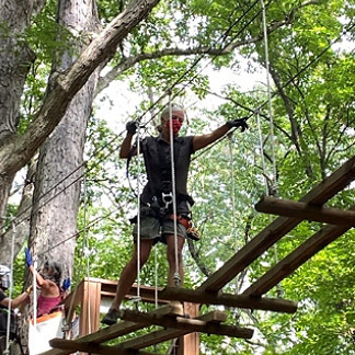 Annual Team Outing at High Ropes Adventure Course