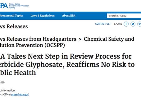 Roundup® & Glyphosate NOT Risks to Public Health