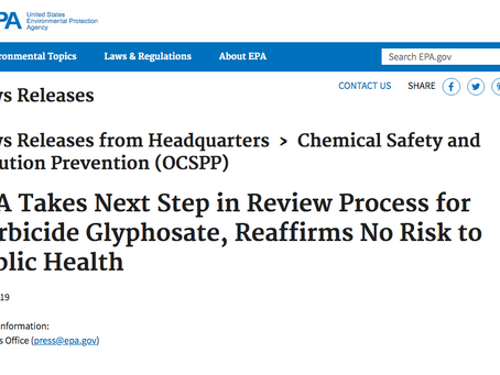 Roundup® & Glyphosate NOT Risks to Public Health