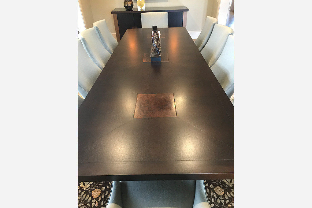 Custom Dining Table, Snider Metcalf Interior Design