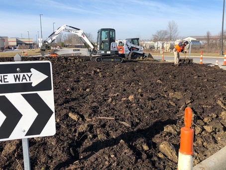 M.J. Donates Time to Improve Industrial Parkway Roundabout