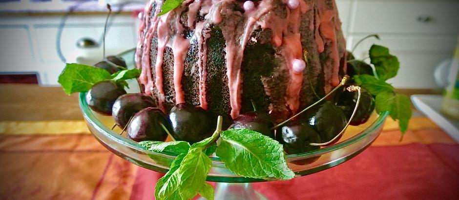 Bundt cake choco-cherries