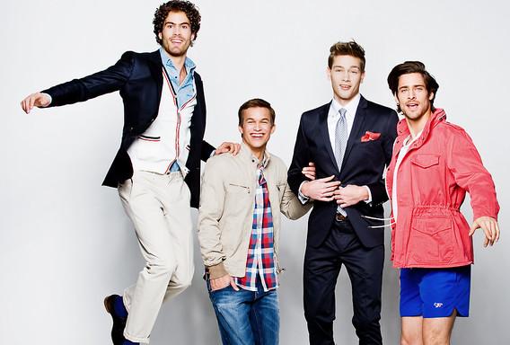 fashion, fashionphotograpy, fun, gang, boys, men, menwear, look at us, bungalow, jump, lookbook, vlado golub photography
